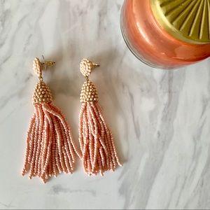 Charming Charlie Pink Tassel Earrings
